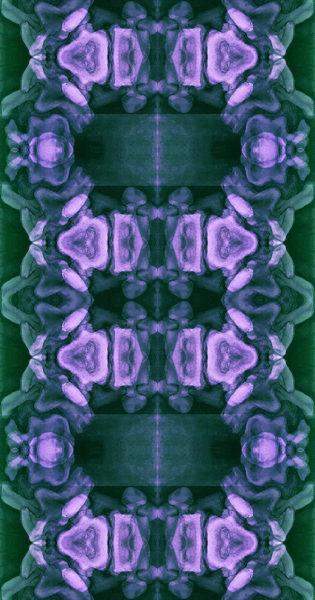 Vertebrae in Turquoise